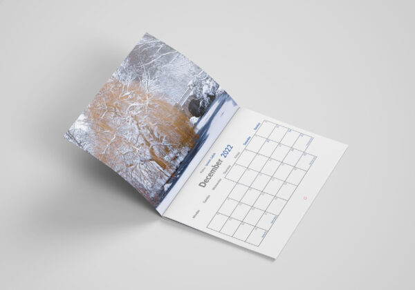 Pursuit of Light December 2021 Calendars A4 Mock up