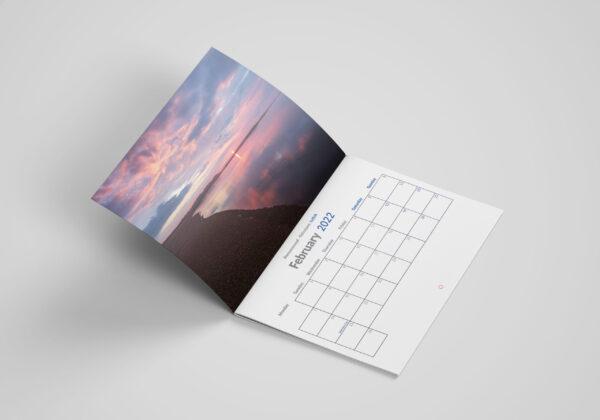 Pursuit of Light February 2021 Calendars A4 Mock up