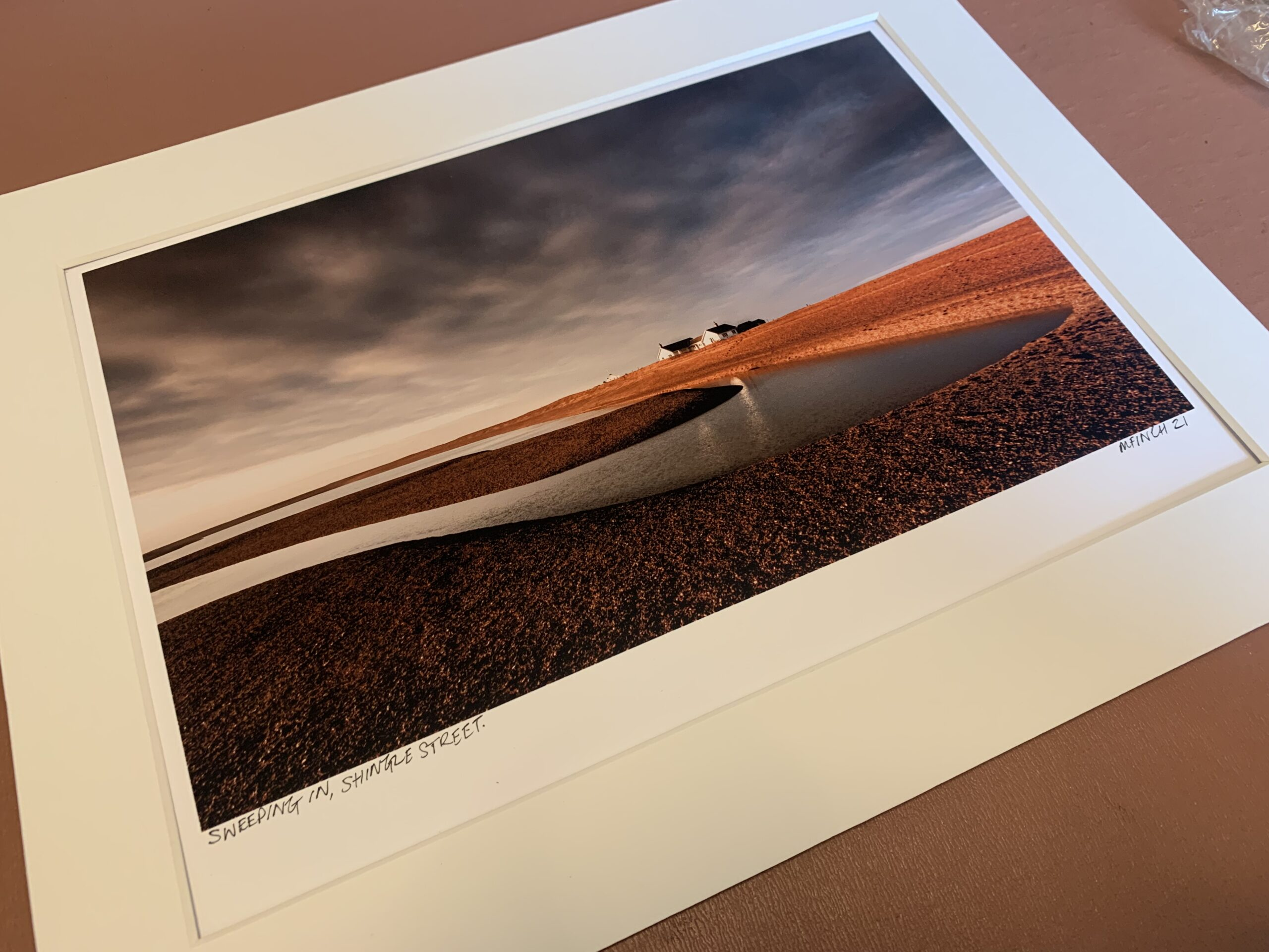 Sweeping In - Mounted Print